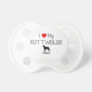 Custom I Love My Rottweiler Dummy