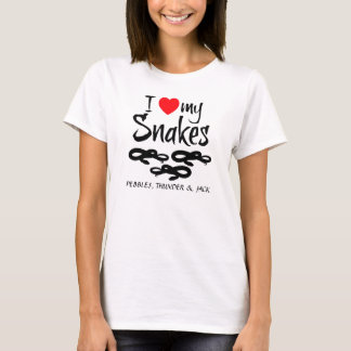Custom I Love My Snakes T-Shirt