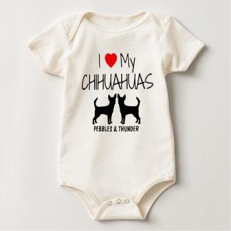 Custom I Love My Two Chihuahuas Rompers