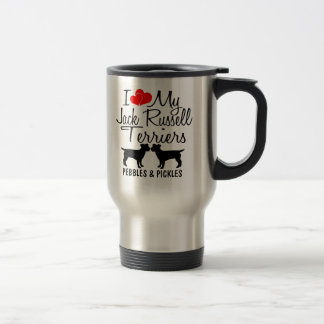 Custom I Love My Two Jack Russell Terriers Mug