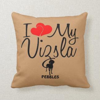 Custom I Love My Vizsla Cushion
