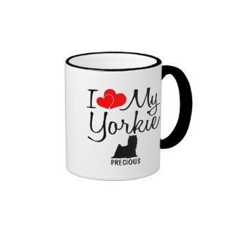Custom I Love My Yorkie Mugs