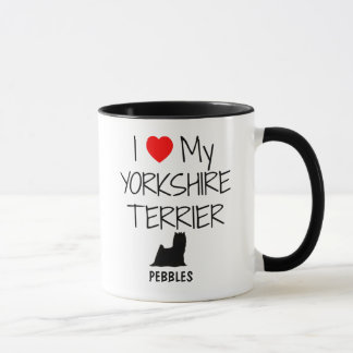 Custom I Love My Yorkshire Terrier Mug