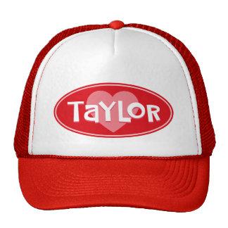 Custom I Love TAYLOR Trucker Hats