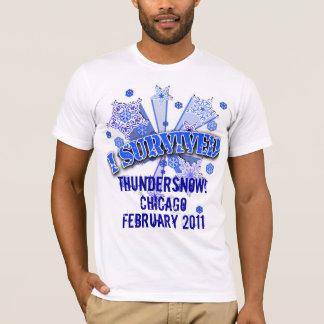 CUSTOM I SURVIVED BLIZZARD  2011 Tshirt