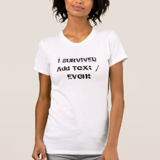 Custom I SURVIVED Women's Fine Jersey T-Shirt