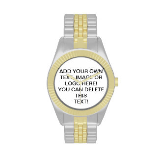 Custom Image Text Logo Make Your Own Mens Watches