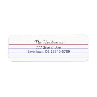 Custom Index Card Return Address Label