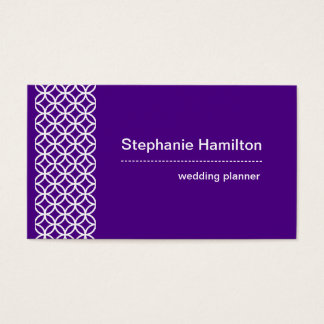 Custom indigo and white business card