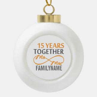 Custom Infinite Mr and Mrs Ceramic Ball Ornament