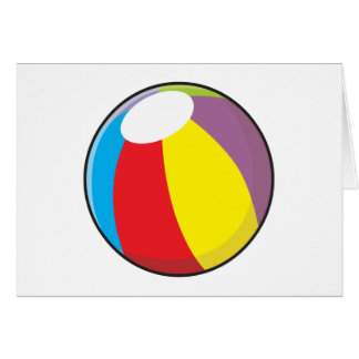 Custom Inflatable Plastic Beach Ball Invitations Greeting Card