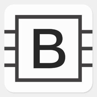 Custom Initial Monogrammed sticker