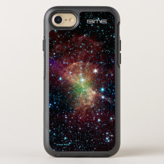 Custom initials dumbbell nebula astronomy OtterBox symmetry iPhone 8/7 case