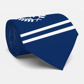 Custom Initials Hockey Player / Fan All Star Navy Tie
