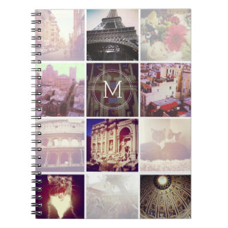 Custom Instagram 12 Photo Notebook Spiral Note Book
