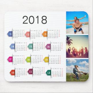 Custom Instagram Photo Collage 2018 Calendar Mouse Pad