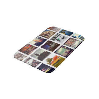 Custom Instagram Photo Collage Bath Mat