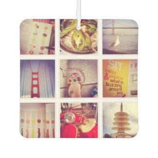 Custom Instagram Photo Collage Car Air Freshener