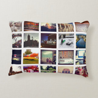 Custom Instagram Photo Collage Decorative Pillow
