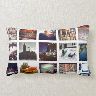 Custom Instagram Photo Collage Lumbar Pillow