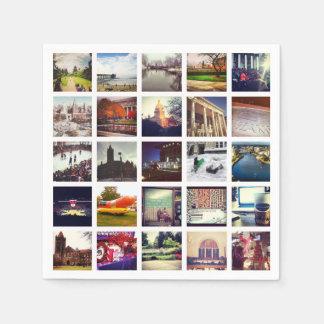 Custom Instagram Photo Collage Paper Dinner Napkin Paper Napkin