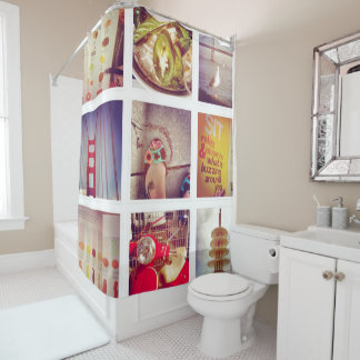 Custom Instagram Photo Collage Shower Curtain