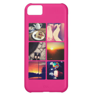 Custom Instagram Photo Hot Pink iPhone 5C Case