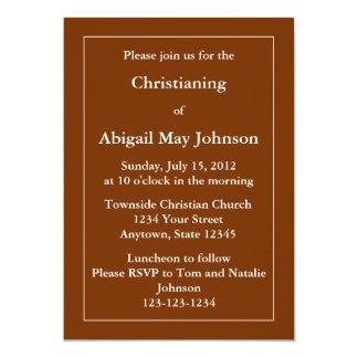 Custom Invitation or Announcement - Dark Brown