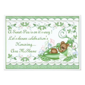 Custom Invitation Sweet Pea in a Pod
