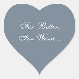 Custom Invite Slate Gray Heart Sticker