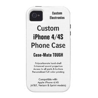 Custom iPhone 4 / 4S Tough Phone Case iPhone 4 Cases