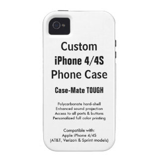 Custom iPhone 4 / 4S Tough Phone Case Case For The iPhone 4