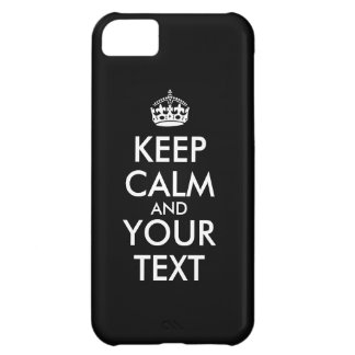 Custom iphone 5c Case Keep Calm and Your Text
