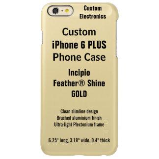 Custom iPhone 6 PLUS FEATHER® SHINE Case, GOLD