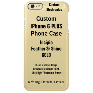Custom iPhone 6 PLUS FEATHER® SHINE Case, GOLD Incipio Feather® Shine iPhone 6 Plus Case
