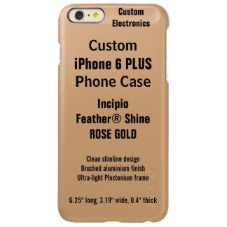 Custom iPhone 6 PLUS FEATHER® SHINE Case, R. GOLD