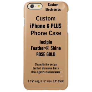 Custom iPhone 6 PLUS FEATHER® SHINE Case, R. GOLD Incipio Feather® Shine iPhone 6 Plus Case