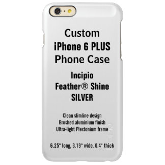 Custom iPhone 6 PLUS FEATHER® SHINE Case, SILVER