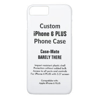 Custom iPhone 7 PLUS Barely There Phone Case
