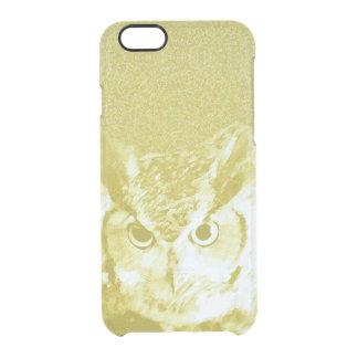 Custom iPhone Clearly™ Deflector Case - Owl (b)
