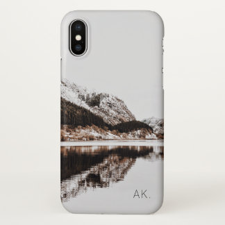 Custom iPhone X Case | Minimalist | Mountains