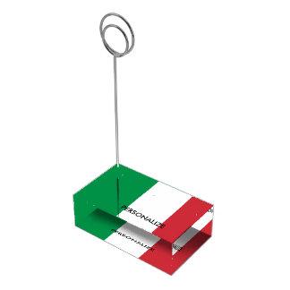 Custom Italian flag table place card holders Table Card Holder