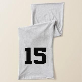 Custom Jersey Number Scarf
