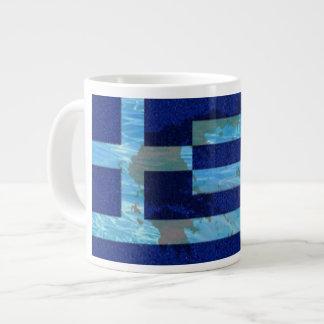Custom Jumbo Mug/ Greek Flag Large Coffee Mug