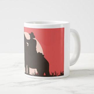 custom, jumbo, white, mug, cowboy, image large coffee mug