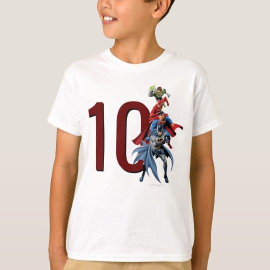 Custom Justice League Birthday T Shirt