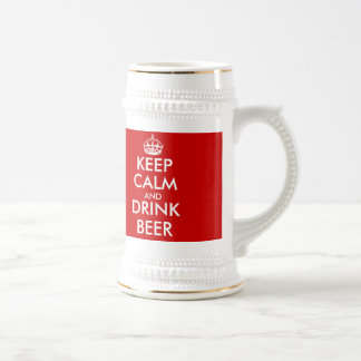 Custom Keep Calm Beer Mug | Customizable template