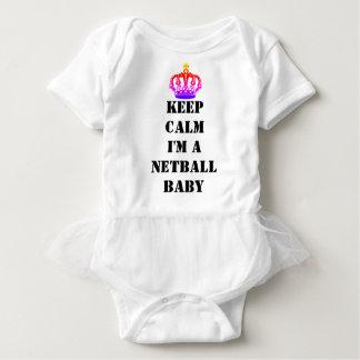 Custom Keep Calm Netball Baby Bodysuit
