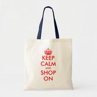 Custom Keep Calm tote bag | Customizable template