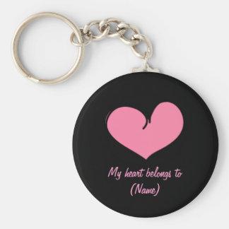 Custom Key Chain - My Heart Belongs to XXX